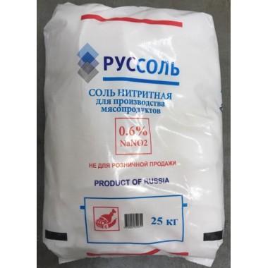 """Соль нитритная (ООО """"Руссоль"""") (мешок 25 кг.)"""